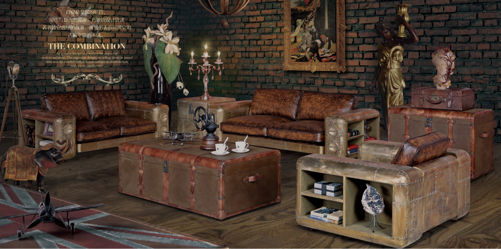 Wellington retro style red color full vintage leather sofa set buy red color full vintage - Reasons choosing vintage style furniture ...