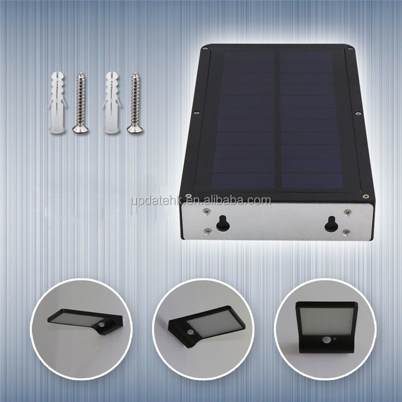 China Solar Companies High Lumen Solar Powered Motion Sensor Waterproof 42 LED Garden Light Stair Wireless Solar Wall Lamps