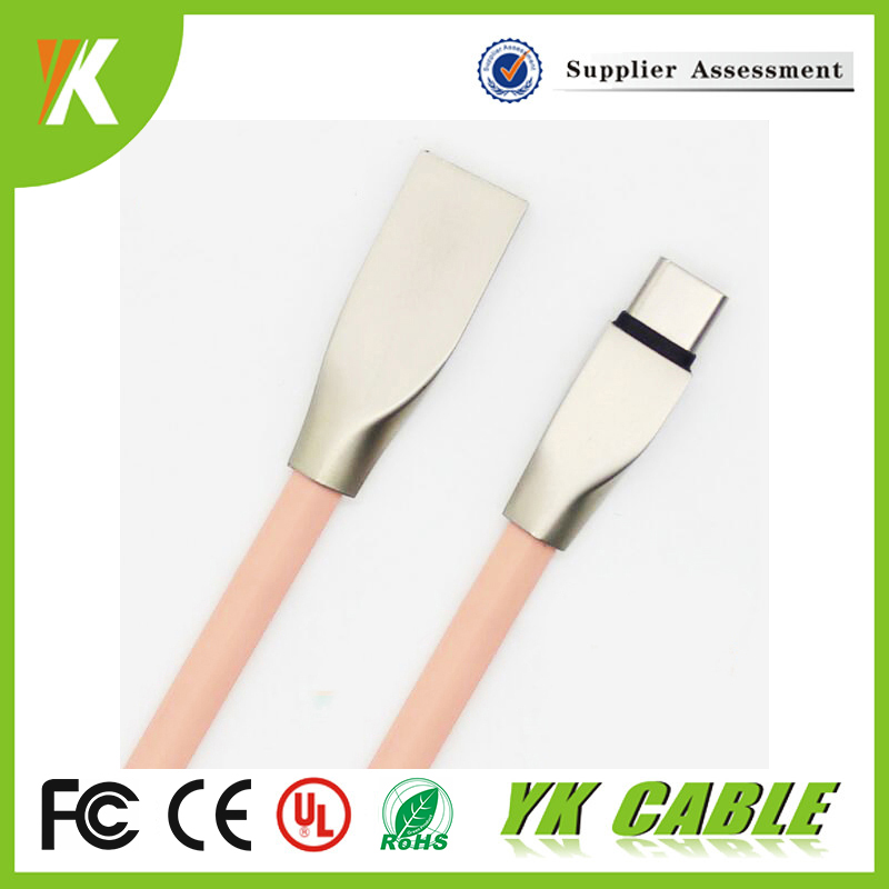 2017 New design OEM ODM Micro Lighting Type-C Zinc Alloy usb cable