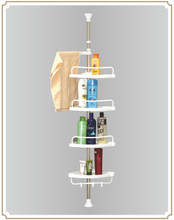 Fashional flexible multi layers bathroom pole shelf