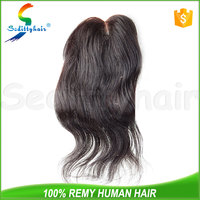 Seditty alibaba express Wholesale human hair middle part lace front closure Brazilian virgin hair 4*4 lace top closure