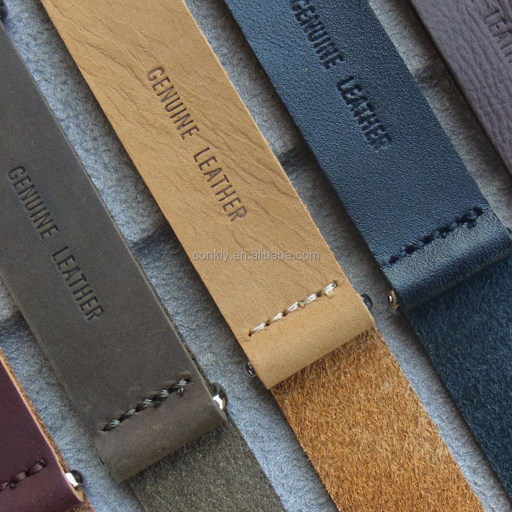 18mm to 24mm genuine leather nato watch strap factory from CONKLY