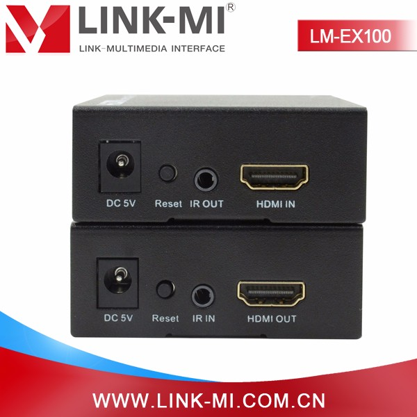 LINK-MI LM-EX100 Up to 1080p HD Video Format HDMI Extender 100m multi Cat5e/6 Cable TCP/IP IR in hdmi/cat5e/6 out