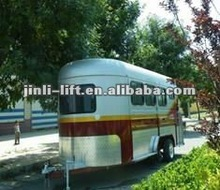 Three Horse wheels axle Float Trailer,horse trailer export