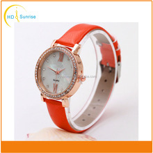 china watch factory leather fashion rhinestone ladies q&q japan movt quartz watches top brand