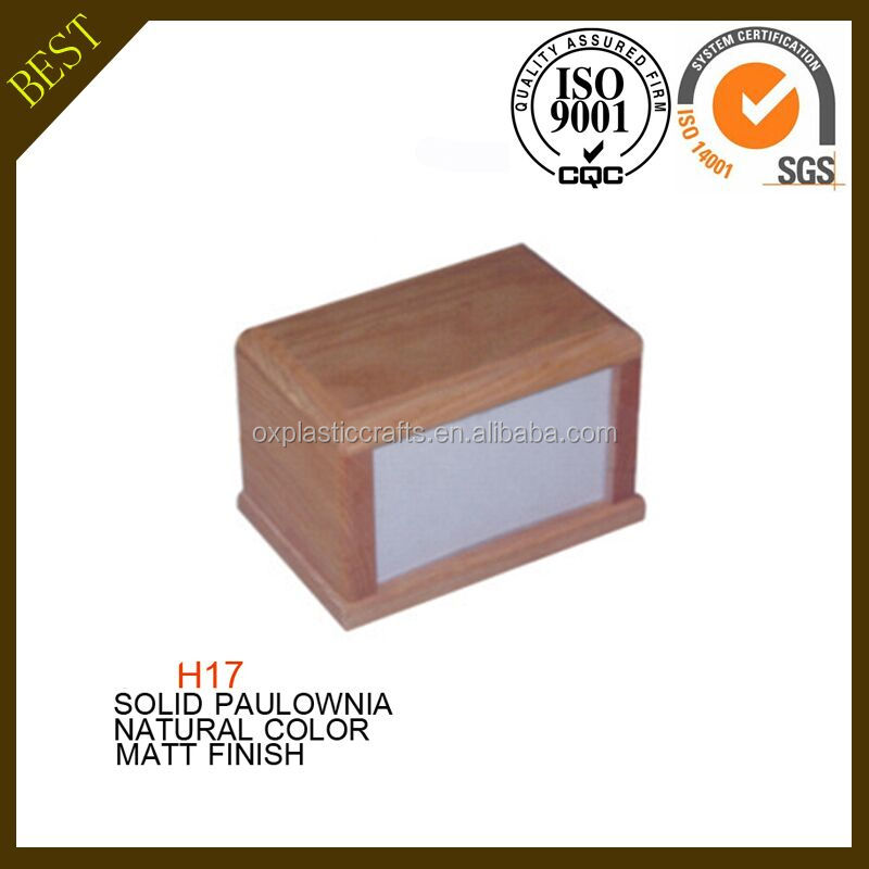 H17 China Cheap Price Wholesale Natural Color Wooden Photo Pet Frame Urns