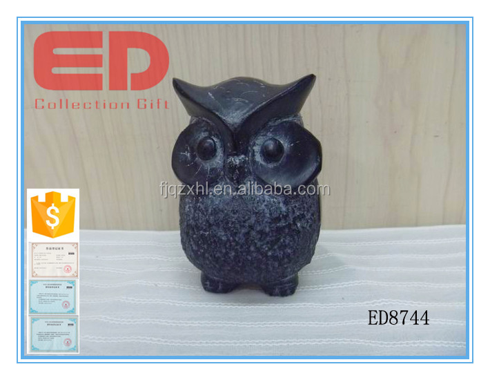 stone effect owl Desktop ornaments on table decoration
