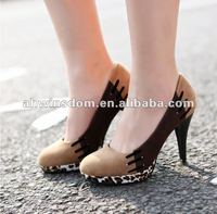 women european style fashion leopard high heel shoes