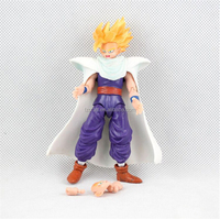 GOKU Cartoon Toys Anime Resin Dragon Ball Z Action Figure PVC Replaceable Face and Hand