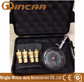 Tyre Pressure Gauge With 4pcs deflator in case for cars