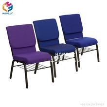 Cheap high quality interlocking auditorium church chair of iron frame