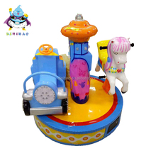 New product kiddie ride theme park 2 seat amusement Park coin operated mini carousel horses for sales