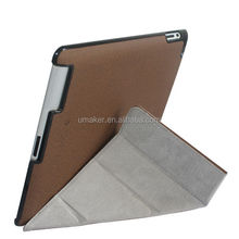 Wholesale Magnetic Stand Smart cover PU Flip Leather case for iPad tablets