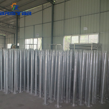 Best Price and Highest Quality Hot Dipped Galvanized Ground Screw For the Fence's Foundation