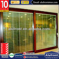 Hurricane impact chinese factory commercial system aluminum frame thermal break lift & sliding door