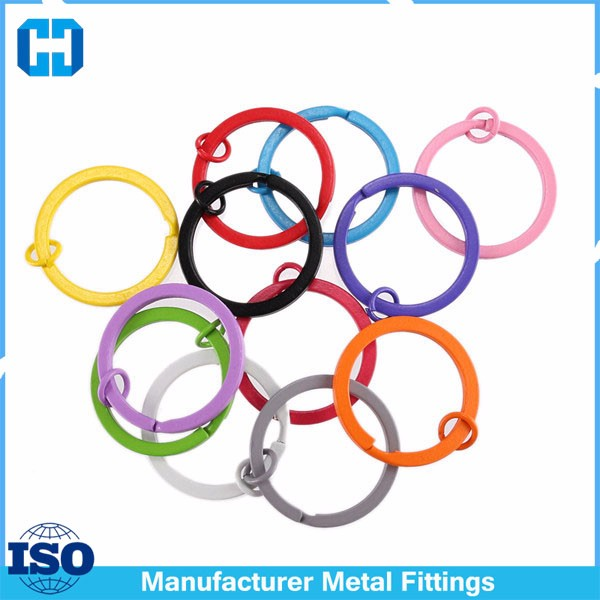 Best Quality Painted Colorful Metal Round Split Key Ring Keyrings