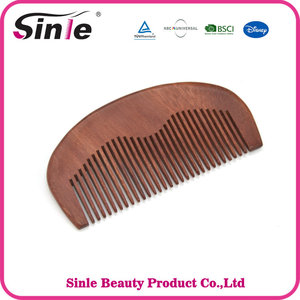 Classic Promotional Custom Natural Wooden Hair Comb, Private Label Lice Beard Comb