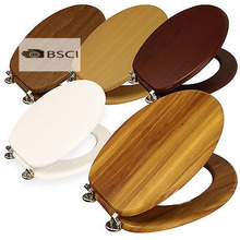 Bathroom wooden toilet seat cover
