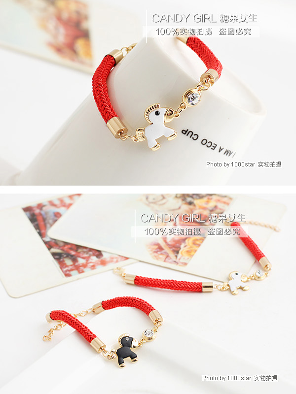 candygirl 2017 jewlery bracelet red rope fashion bracelet accessories bangle popular at high quality crystal bracelet
