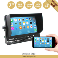 High Quality Digital Lcd Bus/truck/car/rv Rear View Truck Monitor With Mirror Link
