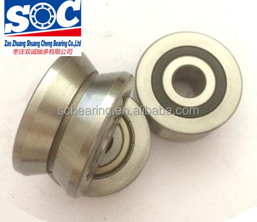 LV series V groove guide rail roller bearing LV20/8ZZ for linear rail