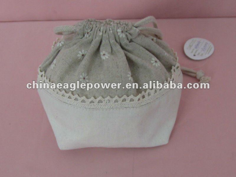 closet canvas pouch bag with drawstring