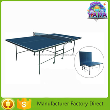 MDF Indoor Table Tennis Table 12MM Thickness Blue Color Top Sport Table
