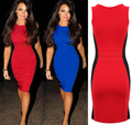 Ladies dresses sleeveless western new patchwork tight fashion dress