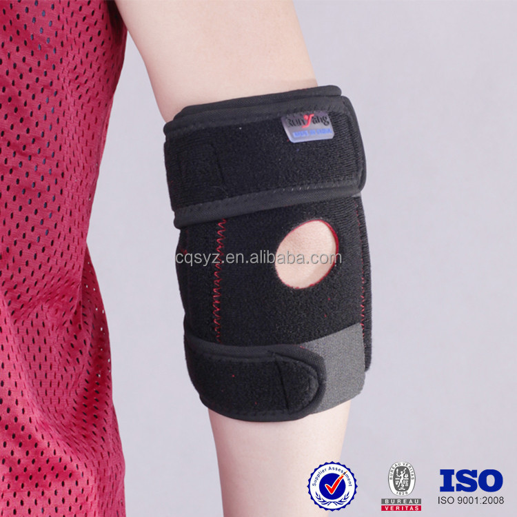 custom high quality ok cloth sports volleyball computer adjustable neoprene open elbow protection pads