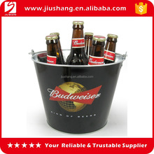 Popular custom logo metal ice bucket for bar beer using