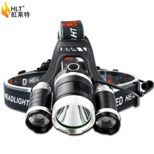 factory wholesale led outdoor light 18650 battery led rechargeable headlamp