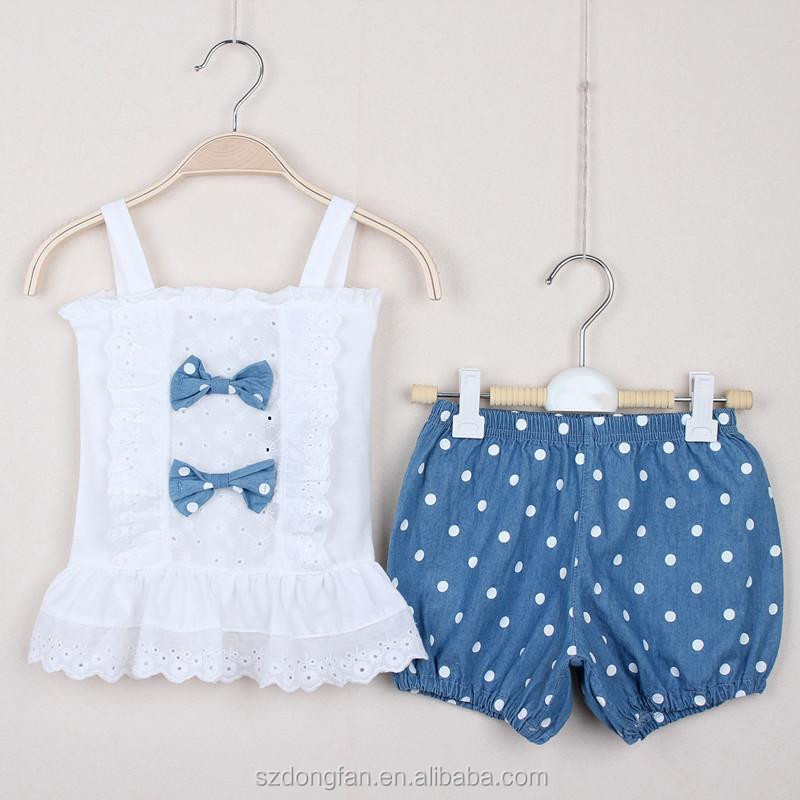 Wholesale Summer Baby Girl Pcs Suits Shirt Shorts