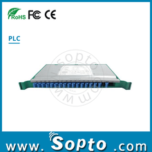 Tray Type PLC Fiber Optical Splitter 1x16 with SC/UPC Adapter Patch Panel Splitter