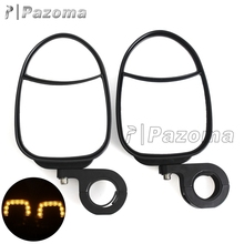 Universal New Easy Dual Views Side View Mirror With Turn Signal For Polaris Yamaha Kymco UTV Models