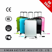 2016 high quality urban fashion abs+pc luggage trolley case for trip, business, daily