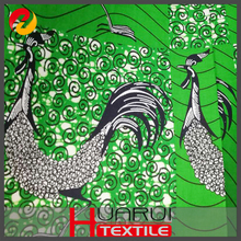 African wax prints Green dress material fabric online shopping