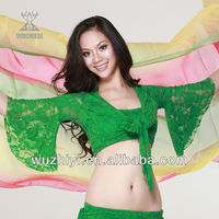 Belly Dance Costumes,Hot Green Lace Sexy Belly Dance Top,Belly Dancing Performance Dress Dance Outfits (QC8001)