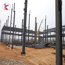 Earthquake Resistant glass wall curtain prefabricated steel structure buildings for 4s car shop