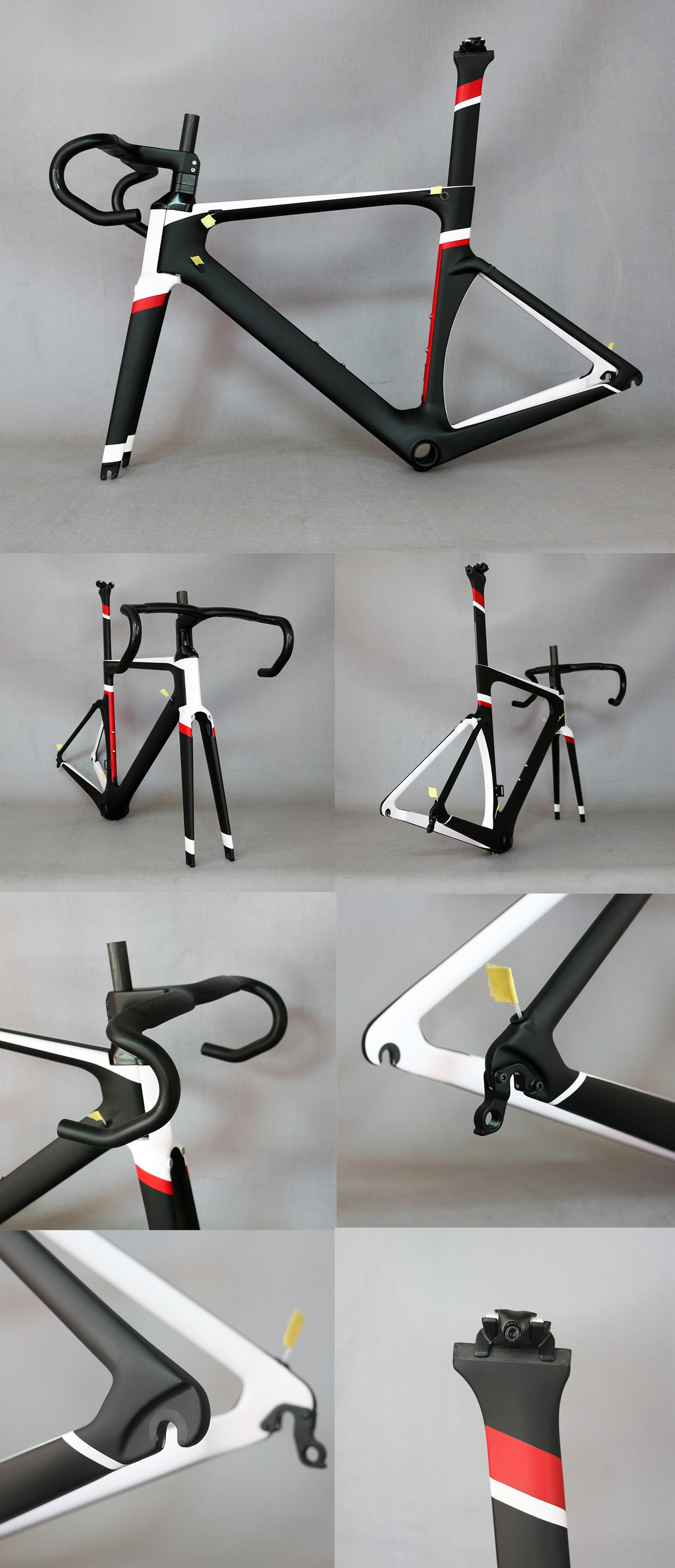 2018 EPS Mould Aero Carbon Road Frame Bicycle Frameset With Integrated Handlebar and Fork