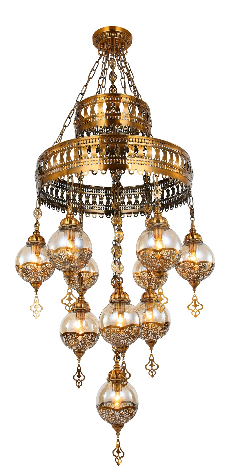 Hot sale Mosque Pendant lamp with cast iron for church decoration