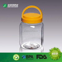 Large jar with handle for food packing use plastic food jar