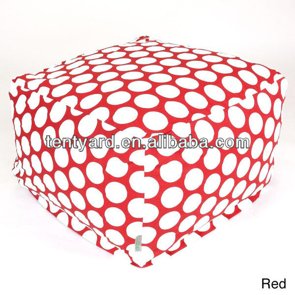 Hotsale red ottoman style beanbag chair