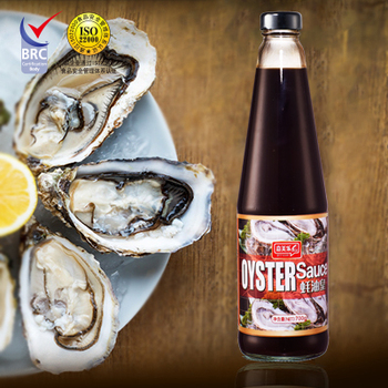 510g delicious oyster sauce in glass bottle