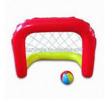 PVC Inflatable Pool Floating Football Shoot Goal Beach Ball Volleyball Net Frame Playground Water Swimming Pool Play Equipment
