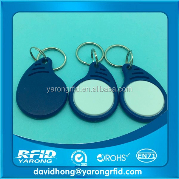 High Quality 125KHZ Chips em4100 tk4100 Custom RFID Key Fobs with different color
