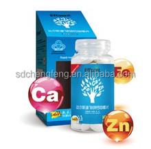 Promote Development Chewable Fe Zn Calcium Tablet OEM Food Supplement