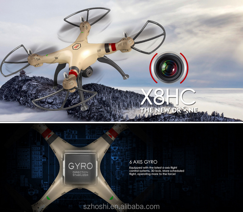 Professional Syma X8HC RC Quadcopter Drone with 2.0MP Camera Automatic Air Pressure High Headless Model RC