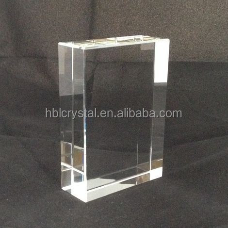 optical k9 blank crystal cube for 3d laser engrave