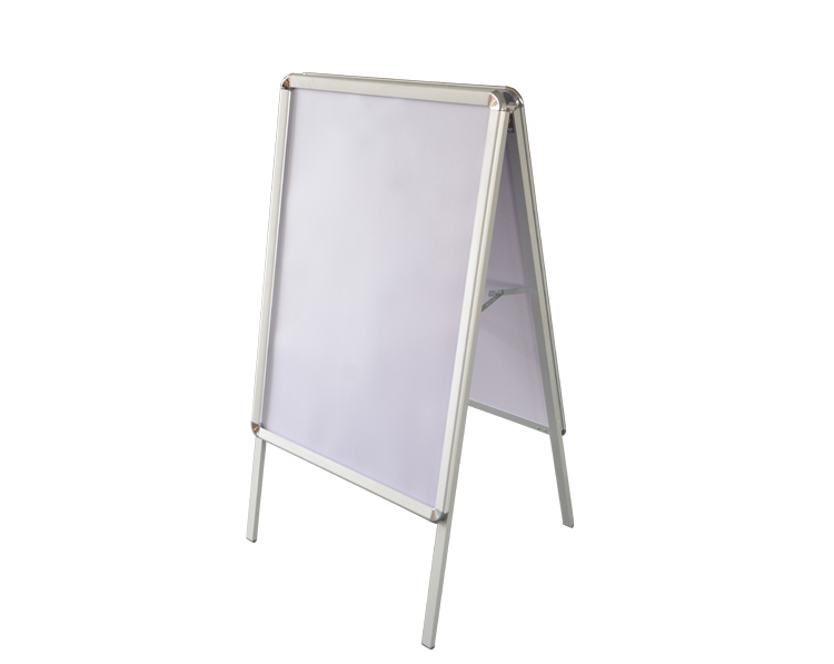 HBS-A 80*120CM outdoor A-BOARD aluminum activity folding A-BOARD <strong>poster</strong> movable display <strong>stand</strong>