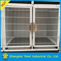 Best quality double dog kennel iron dog cage